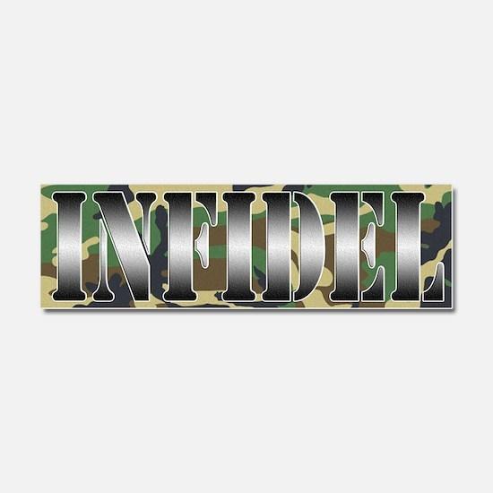 INFIDEL Woodland Camo Car Magnet 10 x 3