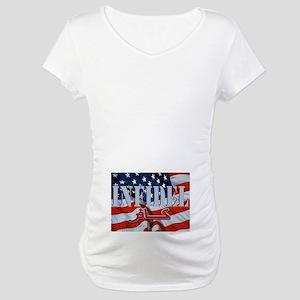 INFIDEL U.S.A. Flag w/Arabic Maternity T-Shirt