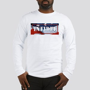 INFIDEL U.S.A. flag Long Sleeve T-Shirt