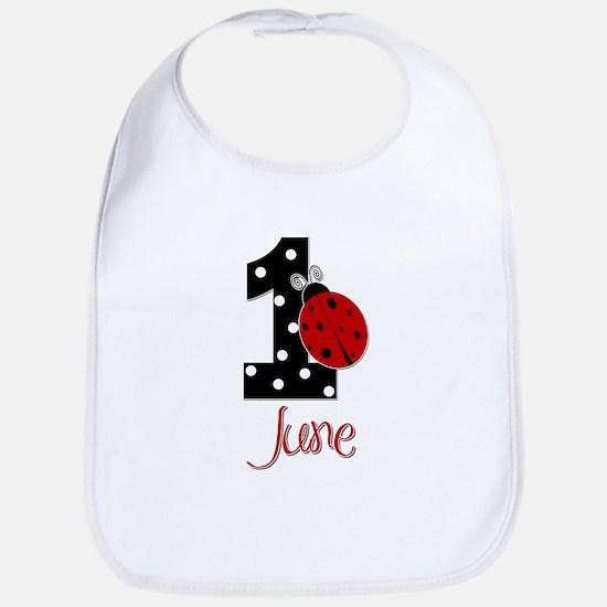 1 Ladybug JUNE - Custom Bib