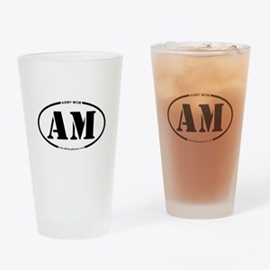 Army Mom (Oval) Drinking Glass
