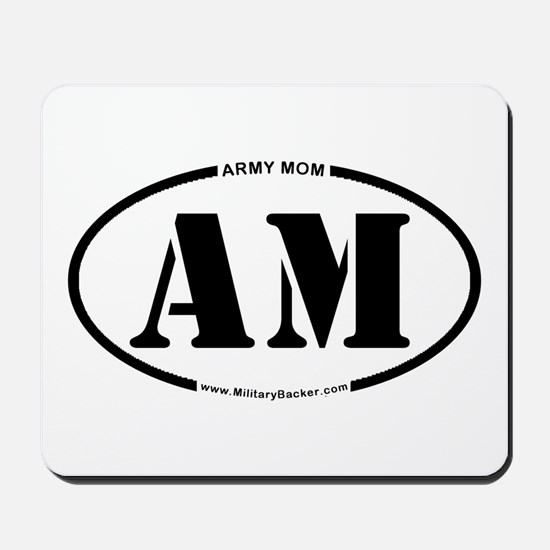 Army Mom (Oval) Mousepad