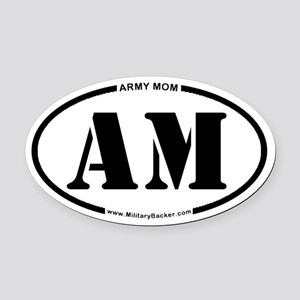 Army Mom (Oval) Oval Car Magnet