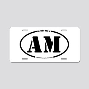 Army Mom (Oval) Aluminum License Plate