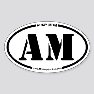 Army Mom (Oval) Sticker (Oval)