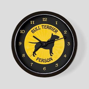 Bull Terrier Person Wall Clock