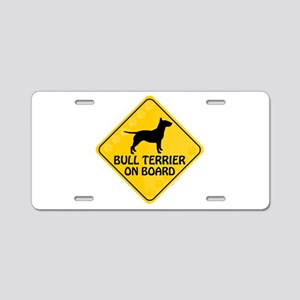 Bull Terrier On Board Aluminum License Plate