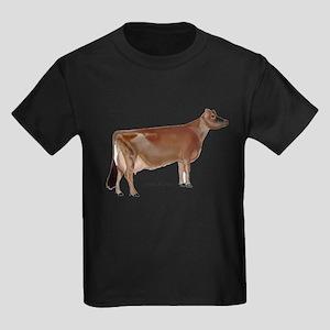 Jersey Milk Cow Kids Dark T-Shirt
