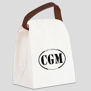 Coast Guard Mom (Oval) Canvas Lunch Bag