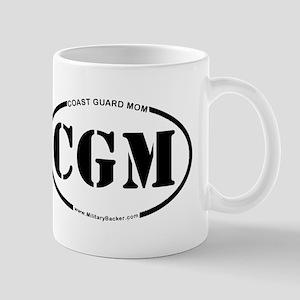 Coast Guard Mom (Oval) Mug