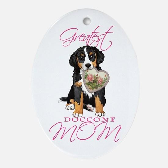 Berner Mom Ornament (Oval)