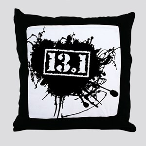 Half Marathon Throw Pillow