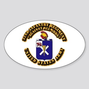 COA - 32nd Infantry Regiment Sticker (Oval)
