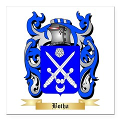 Botha Square Car Magnet 3