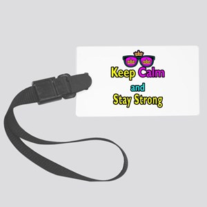 Crown Sunglasses Keep Calm And Stay Strong Large L