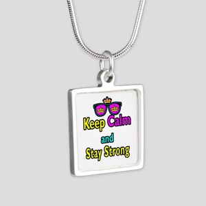 Crown Sunglasses Keep Calm And Stay Strong Silver
