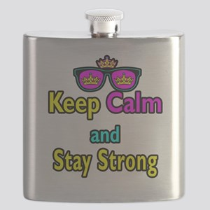 Crown Sunglasses Keep Calm And Stay Strong Flask
