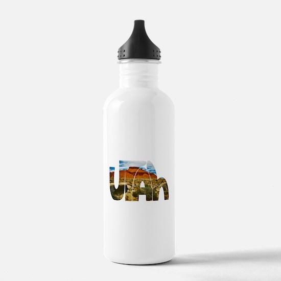 Utah desert logo Water Bottle