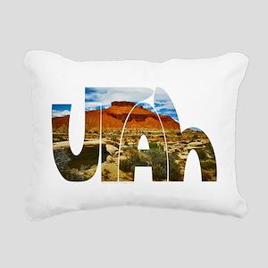 Utah desert logo Rectangular Canvas Pillow