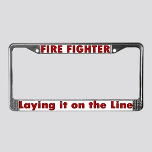 """Laying it on the line"" License Plate Frame"