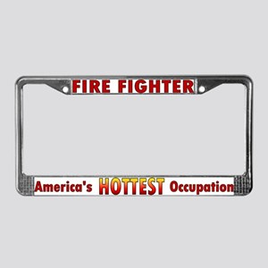 """America's Hottest Occupation"" License Plate Frame"
