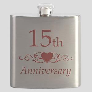 15th Wedding Anniversary Flask