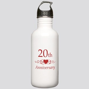 20th Wedding Anniversary Stainless Water Bottle 1.