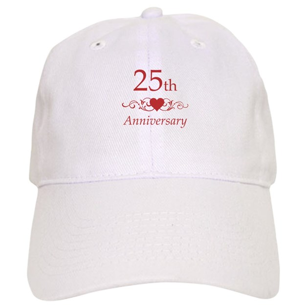 25 30 Anniversary Cap: 25th Wedding Anniversary Baseball Cap By Pixelstreetann