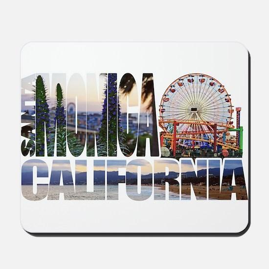 Santa Monica Logo pier beach flora Mousepad