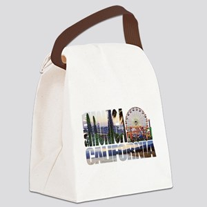 Santa Monica Logo pier beach flora Canvas Lunch Ba