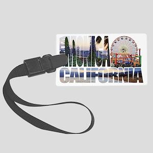 Santa Monica Logo pier beach flora Luggage Tag