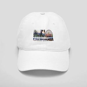 Santa Monica Logo pier beach flora Baseball Cap