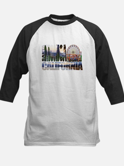 Santa Monica Logo pier beach flora Baseball Jersey