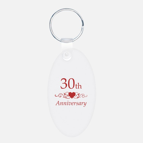 30th Wedding Anniversary Keychains