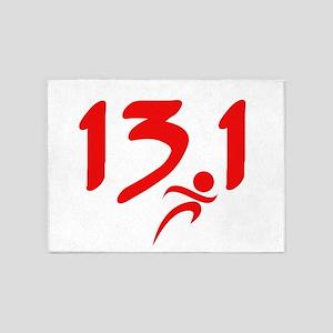 Red 13.1 half-marathon 5'x7'Area Rug