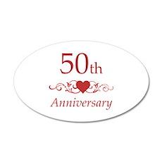 50th Wedding Anniversary Wall Decal
