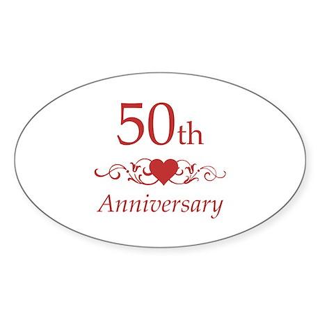 Good 50th Wedding Anniversary Sticker (Oval)