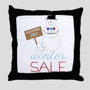 Winter Sale Throw Pillow