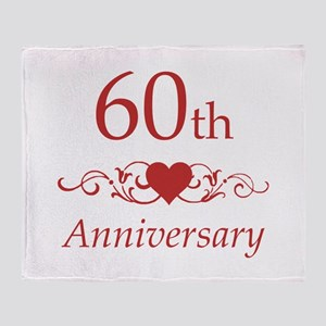 60th Wedding Anniversary Throw Blanket