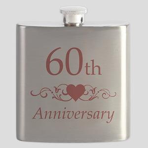60th Wedding Anniversary Flask