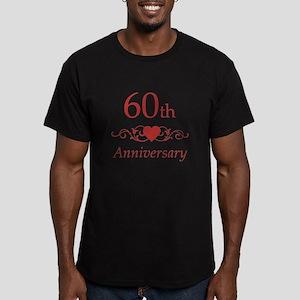 60th Wedding Anniversary Men's Fitted T-Shirt (dar