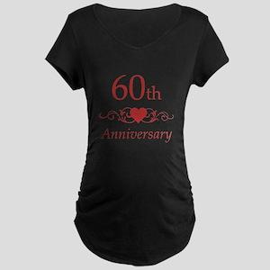 60th Wedding Anniversary Maternity Dark T-Shirt