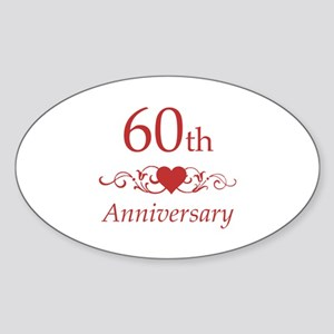 60th Wedding Anniversary Sticker (Oval)