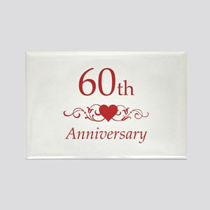 60th Wedding Anniversary Rectangle Magnet