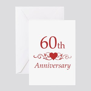 60th anniversary greeting cards cafepress 60th wedding anniversary greeting card m4hsunfo