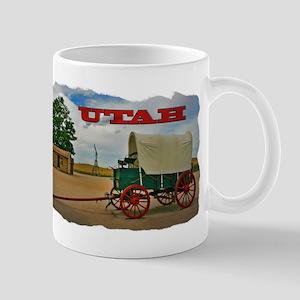 Utah covered wagon Mug