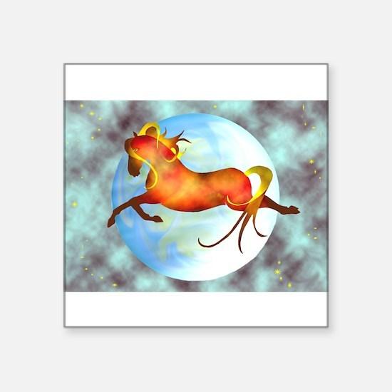 moon horse Rectangle Sticker