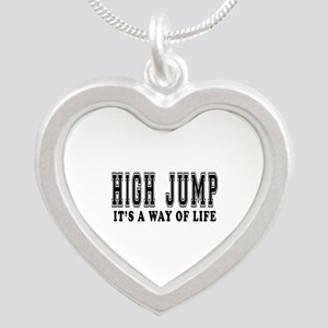 High Jump It's A Way Of Life Silver Heart Necklace