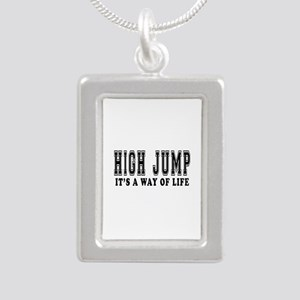 High Jump It's A Way Of Life Silver Portrait Neckl