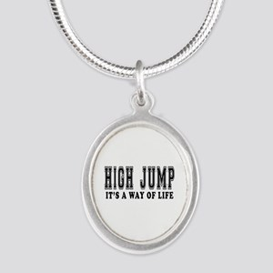 High Jump It's A Way Of Life Silver Oval Necklace
